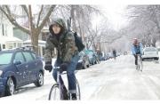 In bici in Inverno