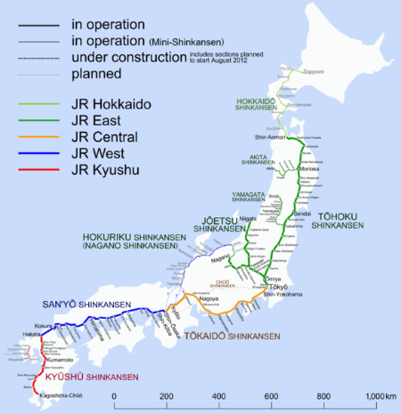 Shinkansen network