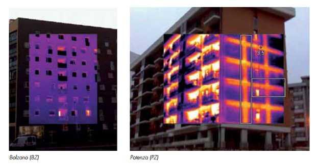 Classi energetiche - termofoto