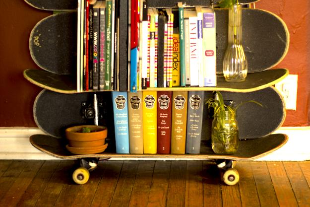 Vecchi skateboard per arredare casa idee green for Arredare casa idee moderne