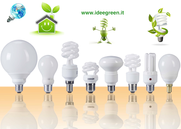 lampadina risparmio energetico : Lampade a risparmio energetico - Idee Green
