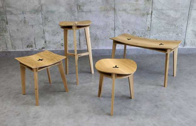 Sgabelli in legno idee green
