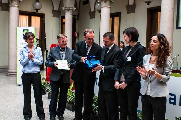 La premiazione di UBI BANCA al Green Globe Banking