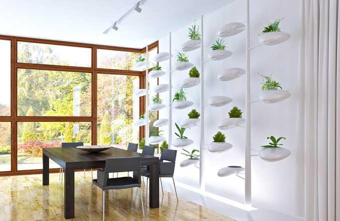 Giardino verticale per arredare casa idee green - Giardino verticale in casa ...