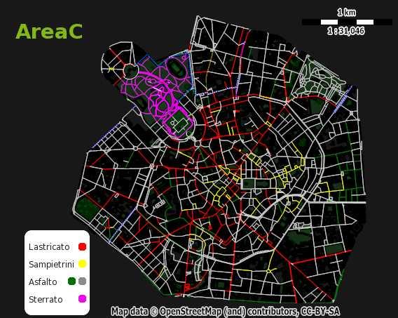 Una delle mappe del progetto milanobicimap