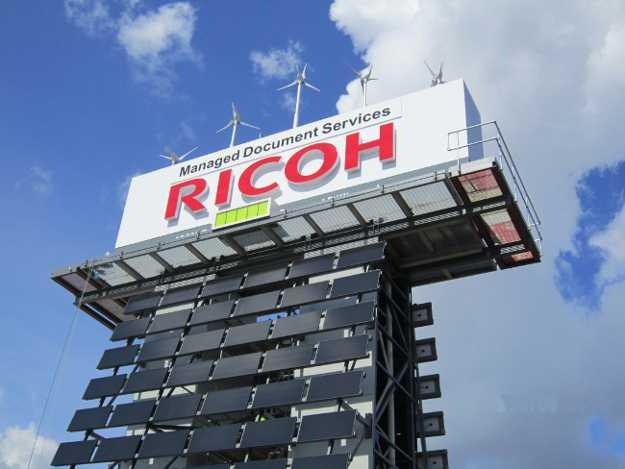 L'ecoboard Ricoh a Londra