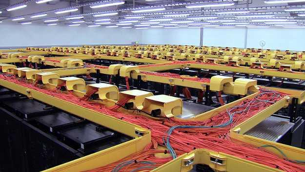 Vista dall'alto del supercomputer SuperMUC