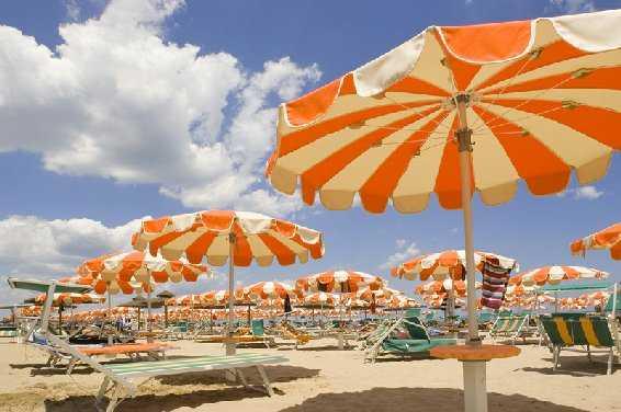 La spiaggia di Bellaria