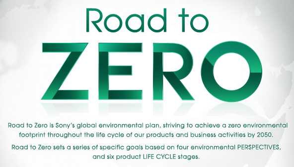 Sony programma Road to Zero