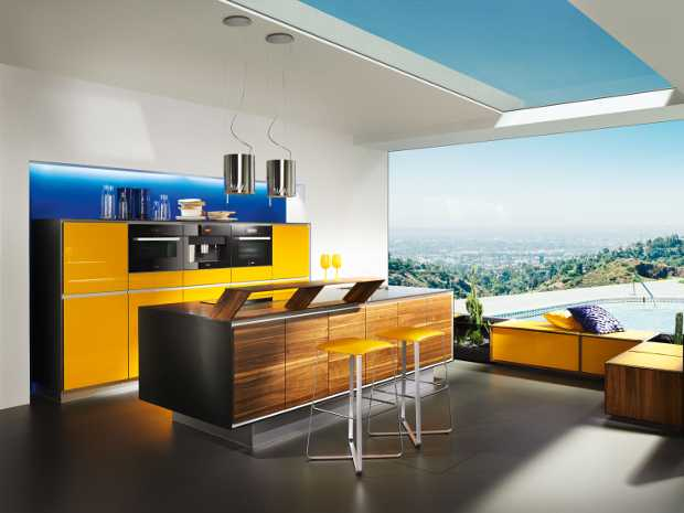 Legno e giallo curcuma per la cucina stile green   idee green