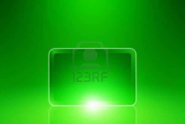 Tablet su sfondo green