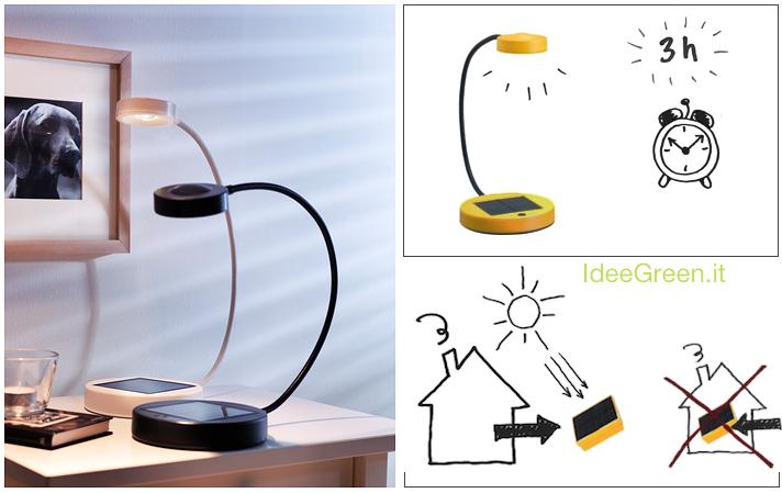 lampada fotovoltaica ikea idee green