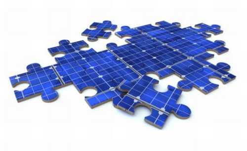 Puzzle di moduli fotovoltaici