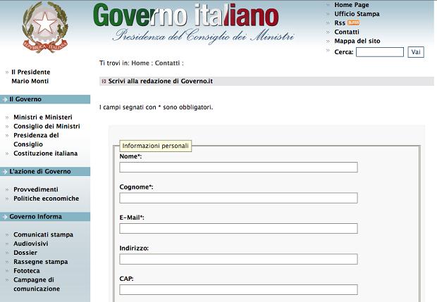 Come segnalare sprechi al governo idee green for Sito governo italiano