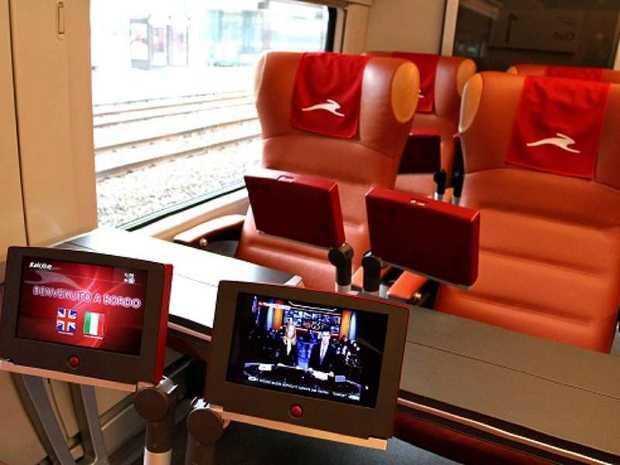 Gli interni del treno Italo