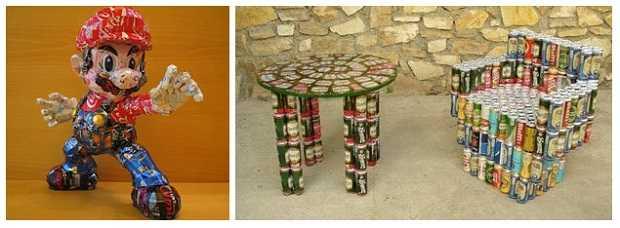 Il riciclo delle lattine idee green for Creare oggetti utili fai da te