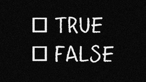 Lavagna con true false
