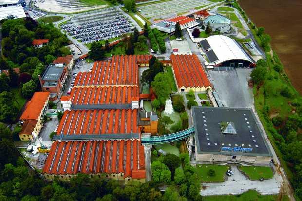 Foto aerea del quartiere fieristico di Udine