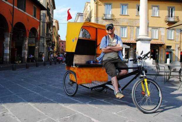 Un pedicab del Pisa Pedicab Ecotour
