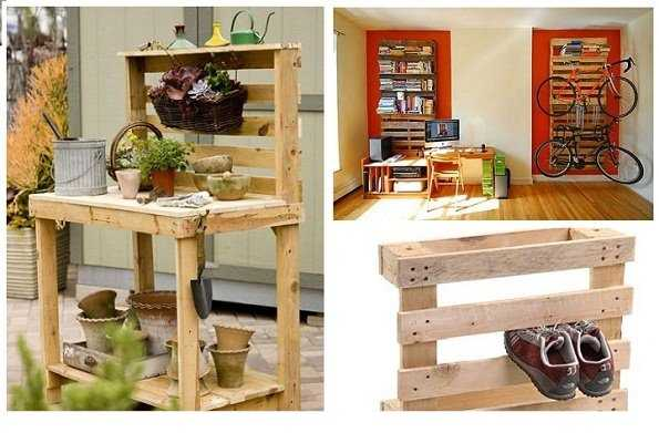 Riciclare i pallet idee green for Scarpiera con pallet