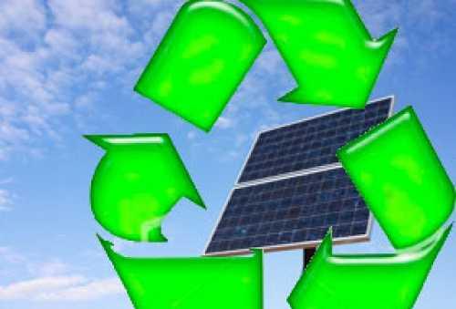 Logo del riciclo pannelli solari