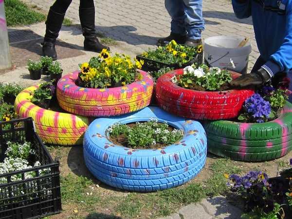 Idee per riciclare copertoni idee green