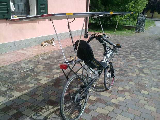 Bici elettrica solare Sunbike senza batterie