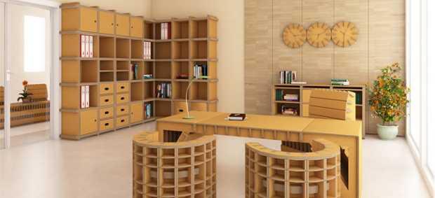 Mobili in cartone idea originale e duratura idee green for Materiali per mobili