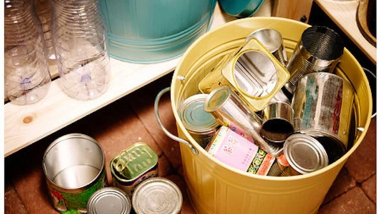 Cestini Raccolta Differenziata Casa contenitori per la raccolta differenziata domestica - idee green