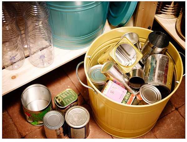Contenitori per la raccolta differenziata domestica idee green - Contenitori raccolta differenziata per casa ...