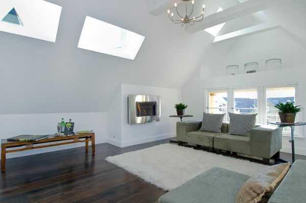 Casa moderna illuminare con i lucernari idee green