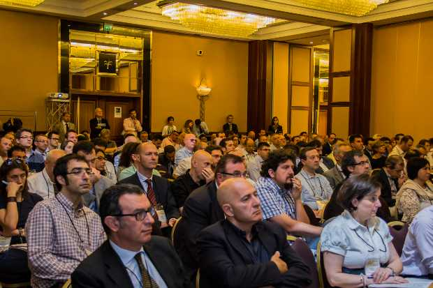 La sala con il pubblico alla Energy Management Conference a Milano