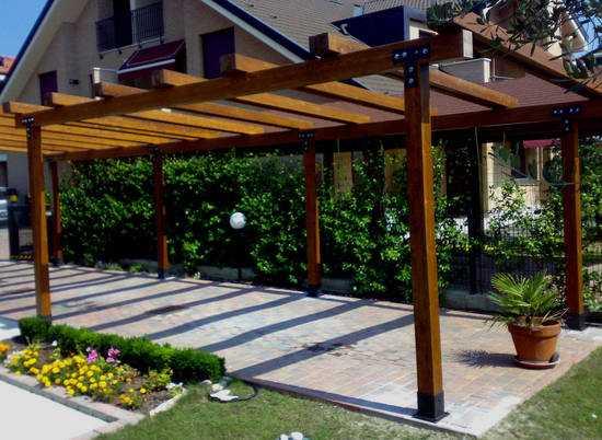 Come costruire un pergolato idee green for Costruire un gazebo in ferro