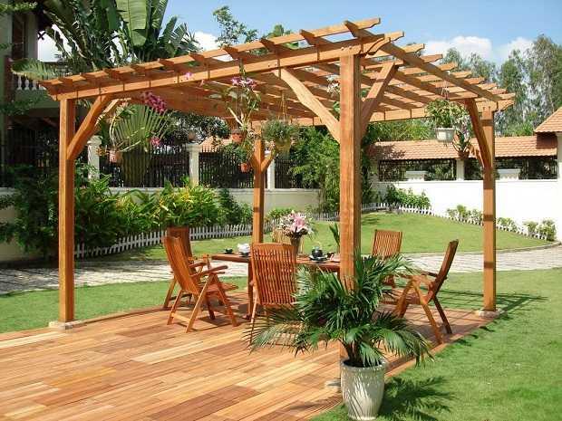 Pergole in legno da giardino, la manutenzione - Idee Green
