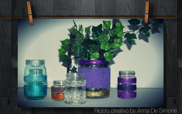Come riutilizzare vasetti di vetro idee green - Come decorare un barattolo ...