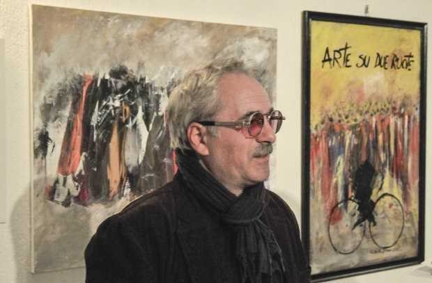 Artista in bicicletta - Giovanni Sironi