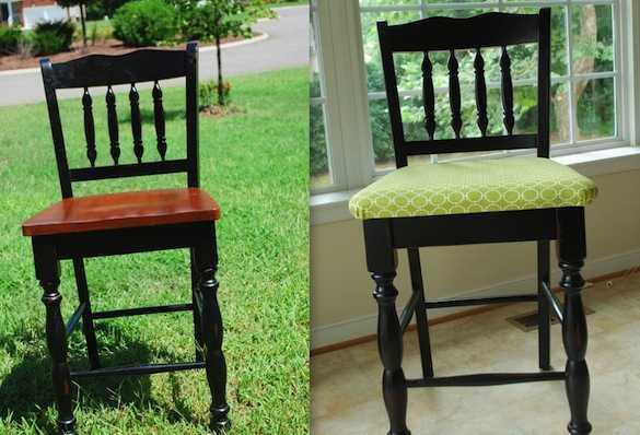 Fai da te tappezzare le sedie idee green - Tappezzare una sedia ...