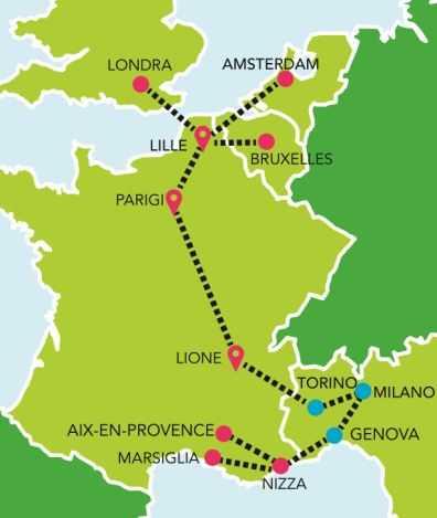 Mappa tragitti iDBUS