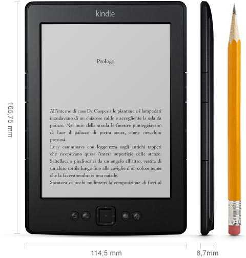 Le dimensioni del Kindle