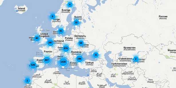 La mappa dei Paesi aderenti al Patto dei Sindaci