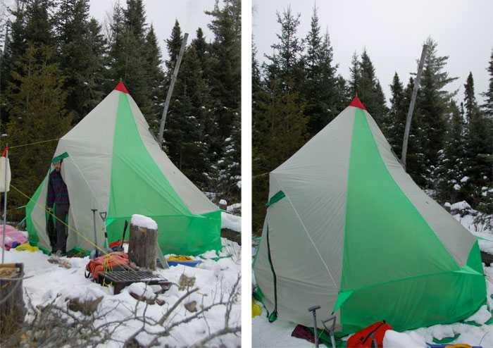 tenda invernale