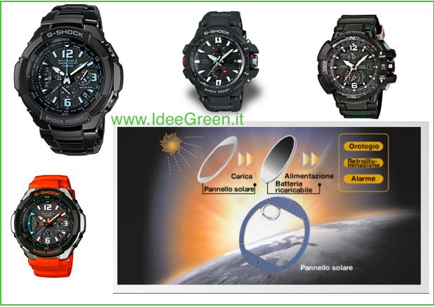 design senza tempo 05045 abe40 Casio a Energia Solare, gli orologi - Idee Green