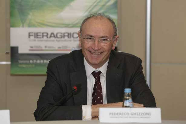 L'amministratore delegato di Unicredit Federico Ghizzoni alla Fieragricola di Verona
