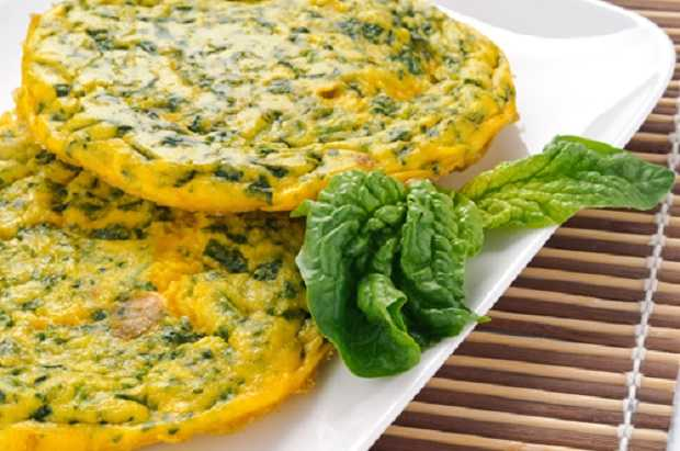 frittata di spinaci light