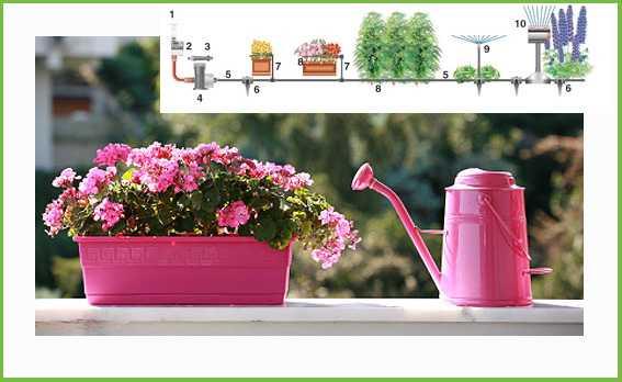 Kit di irrigazione da balcone idee green for Impianto irrigazione vasi