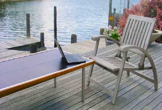 tavolino fotovoltaico