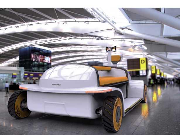 Progetto Tender: quadriciclo elettrico che si guida in piedi pensato per l'utilizzo indoor