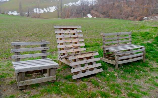 come costruire una sedia con i pallet idee green