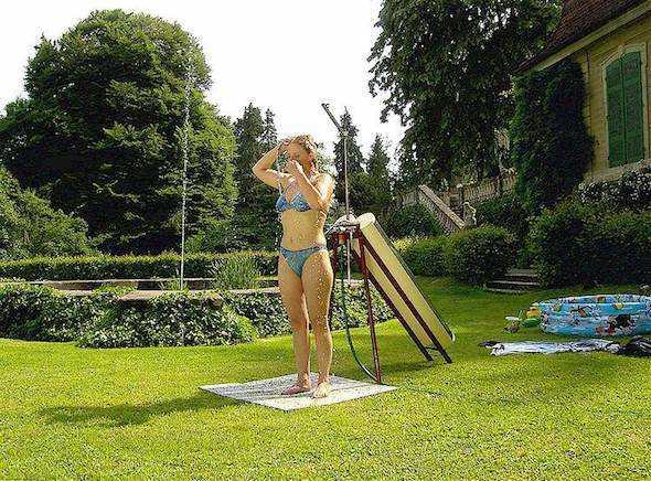 doccia solare da giardino