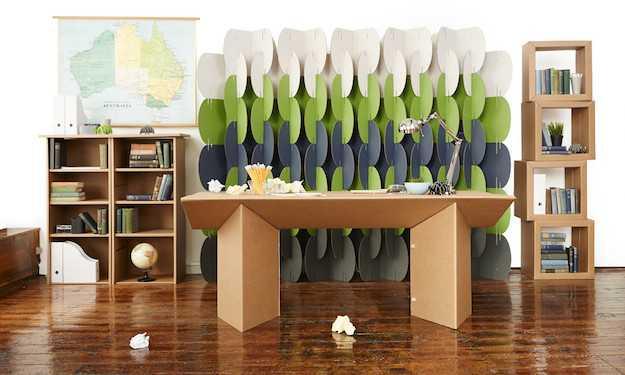 mobili di cartone riciclato